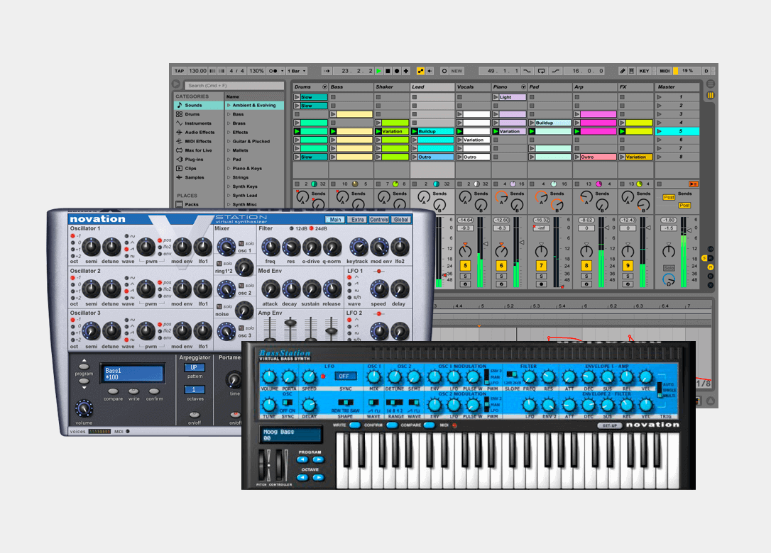Complete with Ableton Live Lite, 4GB of royalty-free Loopmasters samples and the Novation Bass Station and V Station VST and AU plug-in synthesisers, Launchpad comes with everything you need to start making great music.