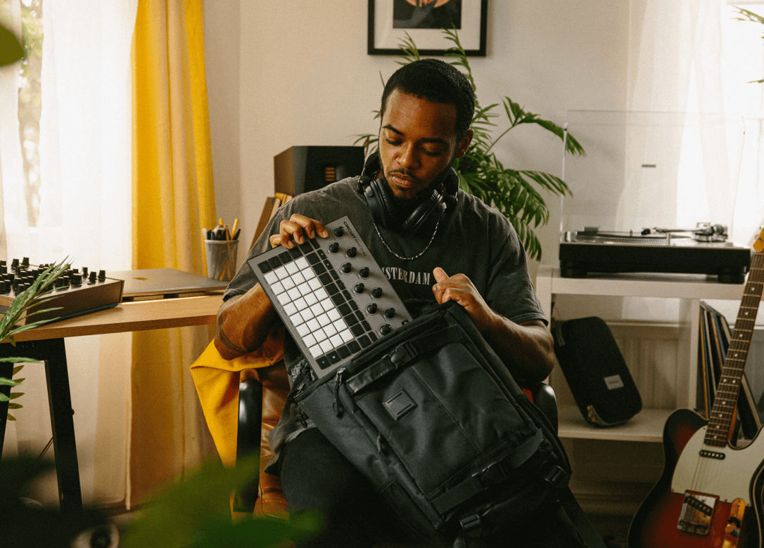 Circuit Rhythm in a backpack