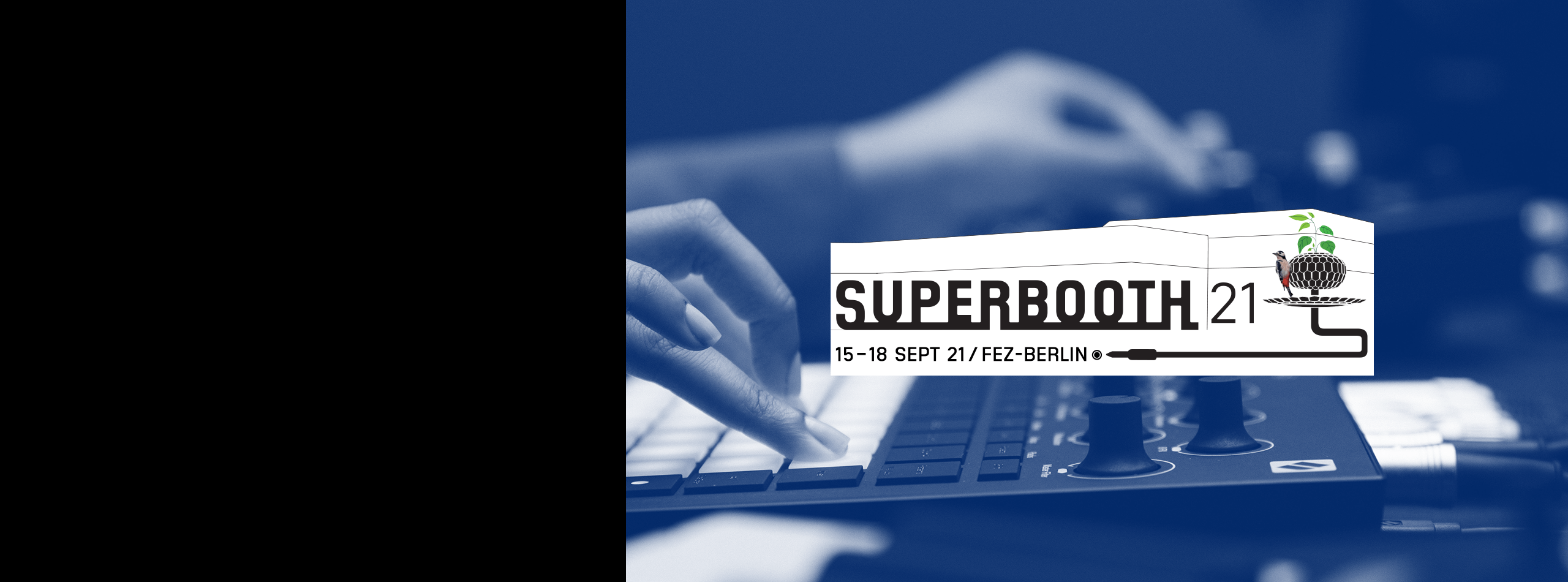 A photo of the Superbooth logo